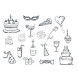 Set of Party doodles vector image