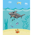 Shark attack vector image vector image