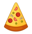 Slice of pizza icon cartoon style vector image vector image