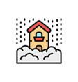 snowfall snow natural disaster catastrophe flat vector image