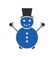 snowman glyph icon vector image