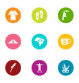 spirit icons set flat style vector image vector image