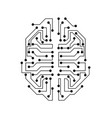 stylized brain circuit board texture electricity vector image vector image