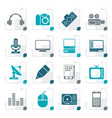 stylized media equipment icons vector image vector image