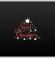 sweet christmas calligraphy for cards posters vector image vector image