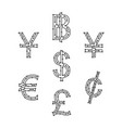 symbol digital money vector image