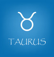 taurus zodiac sign icon simple vector image