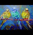 three parrots pastel vector image vector image