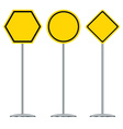 Traffic sign design Black and yellow traffic sign vector image