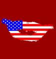 usa flag kiss lips vector image vector image