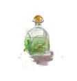 watercolor sketch absinbottle vector image