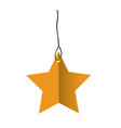 white background with yellow star pendant of vector image