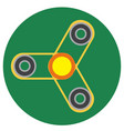 yellow spinner with transparent center vector image vector image