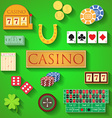 Casino elements Flat design modern of casino items vector image