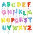 balloon colorful font letters from a to z vector image