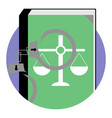 justice and punishment icon vector image
