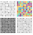 100 rain icons set variant vector image vector image