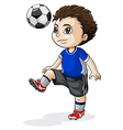 A young Asian soccer player vector image vector image