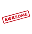 Awesome Text Rubber Stamp vector image vector image