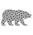 bear pattern of gas mask icons