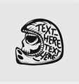 biker skull logo design vector image vector image