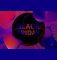 black friday blue dark neon vector image vector image