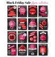 Black Friday Sale flayers collection vector image vector image