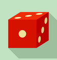 blood dice icon flat style vector image vector image