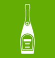 bottle of champagne icon green vector image vector image