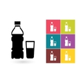 Bottle of water icon vector image vector image