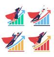 business development growing charts vector image
