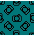 Camera web icon flat design Seamless pattern vector image vector image