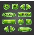 Cartoon green buttons with leaves vector image vector image