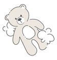 cartoon teddy bear plush toy bear for children vector image