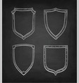 chalk sketch vintage shields vector image