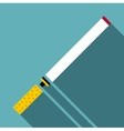 Cigarette icon flat style vector image vector image