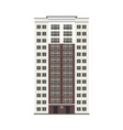 city multistorey building exterior front view vector image vector image