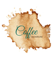 Coffee Stain Background vector image vector image