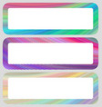 Colored horizontal rounded banner set vector image