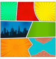 colorful comic book template vector image vector image
