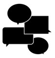 communication icon on white background chat icon vector image