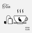 cup of hot tea icon vector image vector image