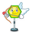 cupid character traffic sign regulatory and vector image