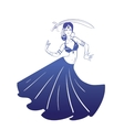 Dancing woman in expressive pose flat silhouette vector image vector image