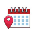 date calendar cartoon vector image vector image