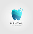 dental or dentist logo symbol clean tooth symbol vector image vector image