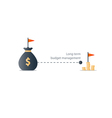 Distant future financial target budget plan icon vector image vector image