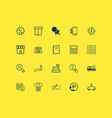 ecommerce icons set with paper tag hanger sales vector image vector image