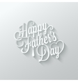 fathers day cut paper lettering background vector image vector image