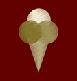 flat shading style icon ice cream balls vector image vector image